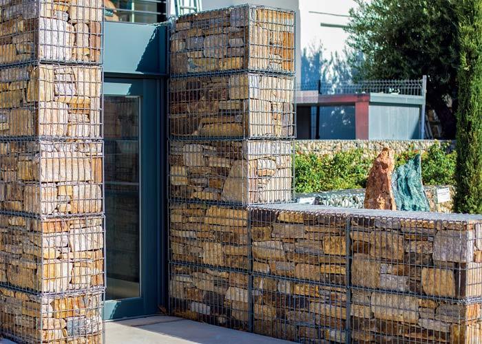 Gabion décoratif : clotûre en gabion, mur en gabion ...