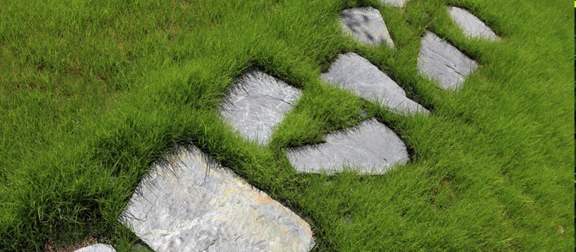 Fontaine en pierre, monolithe pour jardin, pas japonais ...